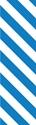 "Picture of Identification Sheet Tape - Diagonal Stripe White/Blue, 1/4"" x 374"""