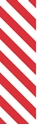 """Picture of Identification Sheet Tape - Diagonal Stripe White/Red, 1/4"""" x 374"""""""
