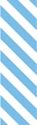 "Picture of Identification Sheet Tape - Diagonal Stripe White/Light Blue, 1/4"" x 374"""