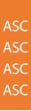"""Picture of Identification Sheet Tape - Patterned Orange/ASC, White, 1/4"""" x 374"""""""