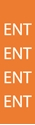 """Picture of Identification Sheet Tape - Patterned Orange/ENT, White, 1/4"""" x 374"""""""