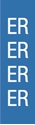 """Picture of Identification Sheet Tape - Patterned Blue/ER, White, 1/4"""" x 374"""""""