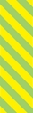 """Picture of Identification Sheet Tape - Diagonal Stripe Yellow/Lime Green, 1/4"""" x 374"""""""