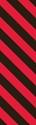 "Picture of Identification Sheet Tape - Diagonal Stripe Black/Red, 1/4"" x 374"""