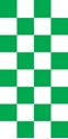 "Picture of Identification Sheet Tape - Checkerboard White & Green, 1/4"" x 374"""