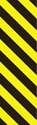 "Picture of Identification Sheet Tape - Diagonal Stripe Black/Yellow, 1/4"" x 374"""