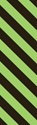 "Picture of Identification Sheet Tape - Diagonal Stripe Black/Lime Green, 1/4"" x 374"""