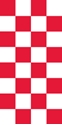 "Picture of Identification Sheet Tape - Checkerboard White & Red, 1/4"" x 374"""