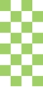 "Picture of Identification Sheet Tape - Checkerboard White & Lime Green, 1/4"" x 374"""