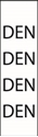 """Picture of Identification Sheet Tape - Patterned White/DEN, Black, 1/4"""" x 374"""""""