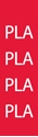 """Picture of Identification Sheet Tape - Patterned Red/PLA, White, 1/4"""" x 374"""""""