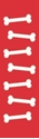"""Picture of Identification Sheet Tape - Patterned Red/White Bones, 1/4"""" x 374"""""""