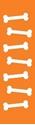 "Picture of Identification Sheet Tape - Patterned Orange/White Bones, 1/4"" x 374"""
