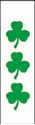"Picture of Identification Sheet Tape - Patterned White/Green Clovers, 1/4"" x 374"""
