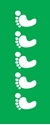 """Picture of Identification Sheet Tape - Patterned Green/White Footprints, 1/4"""" x 374"""""""