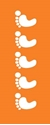 """Picture of Identification Sheet Tape - Patterned Orange/White Footprints, 1/4"""" x 374"""""""