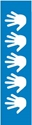 """Picture of Identification Sheet Tape - Patterned Blue/White Hand, 1/4"""" x 374"""""""