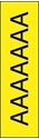 """Picture of Identification Sheet Tape - Patterned Yellow/Black Letter A, 1/4"""" x 374"""""""
