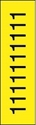 "Picture of Identification Sheet Tape - Patterned Yellow/Black Number 1, 1/4"" x 374"""