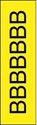 "Picture of Identification Sheet Tape - Patterned Yellow/Black Letter B, 1/4"" x 374"""