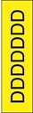 "Picture of Identification Sheet Tape - Patterned Yellow/Black Letter D, 1/4"" x 374"""