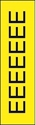 "Picture of Identification Sheet Tape - Patterned Yellow/Black Letter E, 1/4"" x 374"""