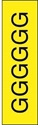 "Picture of Identification Sheet Tape - Patterned Yellow/Black Letter G, 1/4"" x 374"""