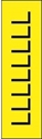 "Picture of Identification Sheet Tape - Patterned Yellow/Black Letter L, 1/4"" x 374"""