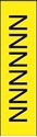 "Picture of Identification Sheet Tape - Patterned Yellow/Black Letter N, 1/4"" x 374"""