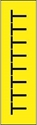 "Picture of Identification Sheet Tape - Patterned Yellow/Black Letter T, 1/4"" x 374"""