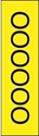 "Picture of Identification Sheet Tape - Patterned Yellow/Black Letter O, 1/4"" x 374"""