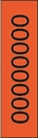 "Picture of Identification Sheet Tape - Patterned Flourescent Orange/Black Letter O, 1/4"" x 374"""