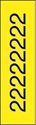 "Picture of Identification Sheet Tape - Patterned Yellow/Black Number 2, 1/4"" x 374"""