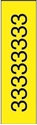 "Picture of Identification Sheet Tape - Patterned Yellow/Black Number 3, 1/4"" x 374"""