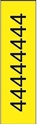 "Picture of Identification Sheet Tape - Patterned Yellow/Black Number 4, 1/4"" x 374"""