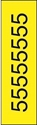 "Picture of Identification Sheet Tape - Patterned Yellow/Black Number 5, 1/4"" x 374"""