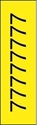 "Picture of Identification Sheet Tape - Patterned Yellow/Black Number 7, 1/4"" x 374"""