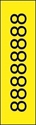 "Picture of Identification Sheet Tape - Patterned Yellow/Black Number 8, 1/4"" x 374"""