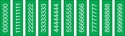 "Picture of Identification Sheet Tape - Patterned Green/White Numbers 0-8, 1/4"" x 374"""