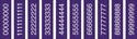 "Picture of Identification Sheet Tape - Patterned Purple/White Numbers 0-8, 1/4"" x 374"""