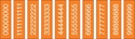 "Picture of Identification Sheet Tape - Patterned Orange/White Numbers 0-8, 1/4"" x 374"""