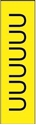 "Picture of Identification Sheet Tape - Patterned Yellow/Black Letter U, 1/4"" x 374"""
