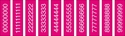 "Picture of Identification Sheet Tape - Patterned Fucshia/White Numbers 0-8, 1/4"" x 374"""