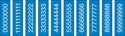"Picture of Identification Sheet Tape - Patterned Medical Blue/White Numbers 0-8, 1/4"" x 374"""