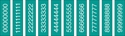 "Picture of Identification Sheet Tape - Patterned Emerald Green/White Numbers 0-8, 1/4"" x 374"""