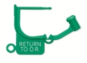"Picture of Standard Colour Locking Tags Green - With Text, ""RETURN TO O.R."", 100/Pkt"