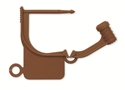 Picture of Special Colour Locking Tags Brown - Plain, 1000/Pkt