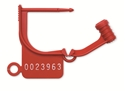 Picture of Numbered Locking Tags Uniquely Numbered - Red, 1000/Pkt