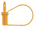 "Picture of Breakaway Instrument Identification Tags Yellow, Preprinted, ""BIOHAZARD"", 6"" 100/Pkt"