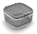 Picture of Micro Mesh Instrument Trays With Lid, 80 x 80 x 40mm, 1/Pkt